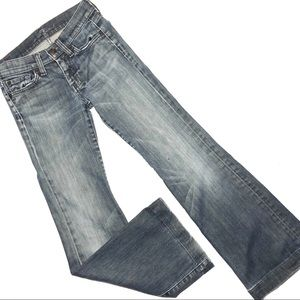 7 For All Mankind Dojo Wise Leg Jeans 24